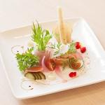 旬の地野菜と魚介の華やかなオードブル